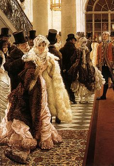 James Jacques Joseph Tissot (French, 1836–1902).  La Mondaine (The Woman of Fashion). Oil on canvas, 58 x 40 in. (147.32 x 101.60 cm.). Private Collection.