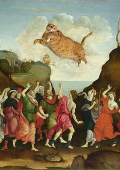 Have you bowed to the Cat???(Filippino Lippi. The Worship of the Golden Cat)