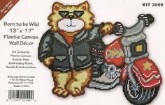 Born To Be Wild Plastic Canvas Kit by needlecraftsupershop on Etsy, $19.99