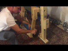 DIY Leg Curl for Power Rack - YouTube