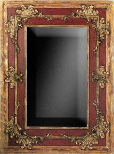 Wood Frame With Distressed Gold And Red Finish Mirror - Safavieh Home Furnishings