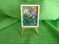 Miniature Art Mini Art Original Painting Tiny Art by JudesTinyArt, $15.00