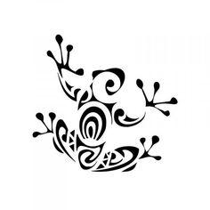Племенной Лягушка татуировки - Трафарет клей с защитной пленкой