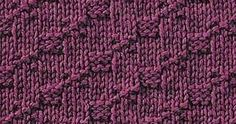 Every Saturday I will share with you a new stitch.  Today's stitch is: Step Stitch      A beautiful diagonal knitting stitch, small revers...