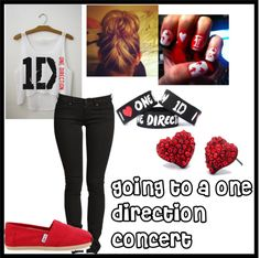 """""""going to a one direction concert"""" by fashion-is-foreverr ❤ liked on Polyvore"""