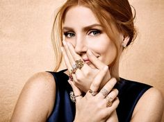 Jessica Chastain flaunts rings from Piaget 2016 campaign