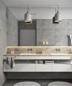 minimalist gray apartment bathroom decorating