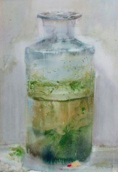 le bocal oublié 1 / aquarelle de Jean-Louis MORELLE (France #watercolor jd)