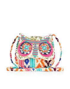 Jewelled Owl Braid Bag  Pinned by www.myowlbarn.com