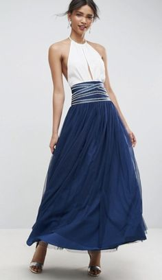ASOS Maxi Tulle Skirt with Crossover Embellished Waistband Mesh Skirt, Pleated Skirt, Navy Maxi Skirts, Tulle Skirts, Cheap Skirts, Online Shopping Clothes, Latest Fashion Clothes, Casual Dresses, Clothes For Women