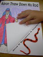 Hands On Bible Teacher: aaron threw down his rod