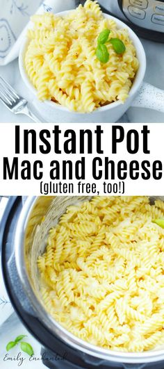 Easy Instant Pot Gluten Free Mac and Cheese Recipe - Pasta Dishes - Gf Recipes, Cheese Recipes, Pasta Recipes, Vegetarian Recipes, Best Gluten Free Mac And Cheese Recipe, Gluten Free Recipes Instant Pot, Crockpot Recipes Gluten Free, Recipe Pasta, Crockpot Mac And Cheese