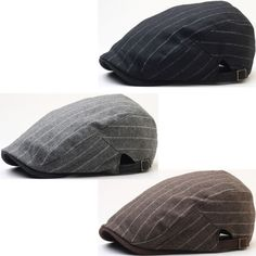 e5e3b132c12 New Men Wool Stripe Big Size Simple Design Newsboy Cap Gatsby Golf Ascot Hat   Mensaccessories