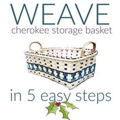 How to Weave Cherokee STYLE Storage in 5 easy steps Weaving Projects, Weaving Art, Hand Weaving, Basket Weaving Patterns, Loom Knitting Patterns, Knitting Tutorials, Free Knitting, Stitch Patterns, Plastic Baskets