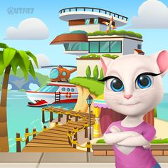 I'm all about home improvements! Upgrade your house to unlock new characters & new worlds xo, Talking Angela #TalkingAngela #MyTalkingAngela #LittleKitties #TomGoldRun #app #best #game #TalkingFriends
