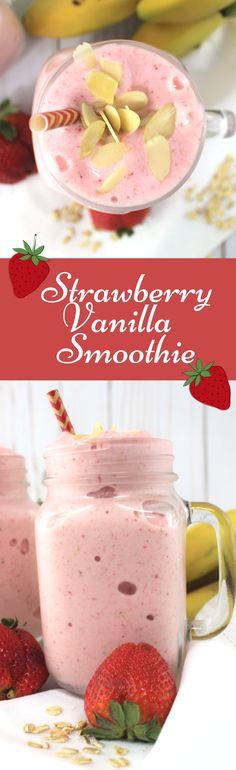 #strawberry #proteinsmoothie