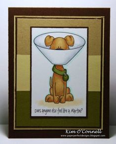 Whimsie Doodles Martini Dog by MrsOke by MrsOke - Cards and Paper Crafts at Splitcoaststampers