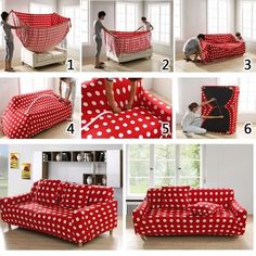 5 steps in turning a sheet into a couch cover (NO SEWING ... d260247bb