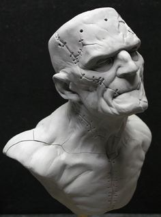 The monster is alive Face Drawing Reference, Art Reference, Sculpture Head, Modelos 3d, Classic Monsters, Creature Concept, Creature Design, Zbrush, Oeuvre D'art