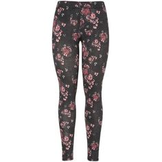 Floral print legging (€17) ❤ liked on Polyvore featuring pants, leggings, bottoms, calças, womens plus size leggings, legging pants, floral print pants, plus size pants and flower print leggings