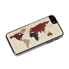 Wood Countries of the World iPhone Case