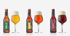 Verschiedene Camba Phntm Biere in Flasche und Glas