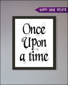 Once upon a time Nursery Wall Art Poster Print by InspiredFlamingo