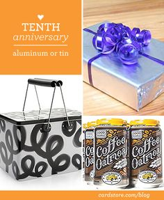 Put 10 clues in a tin box awaiting 10 gifts for a 10 day countdown. Tenth wedding anniversary gift ideas - aluminum or tin Tin Anniversary, 10th Wedding Anniversary Gift, Anniversary Ideas For Him, Best Anniversary Gifts, Anniversary Parties, Romantic Gifts, Homemade Gifts, Gift Ideas, Gift List