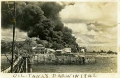 During WWII Darwin was bombed 64 times over almost two years, with the first two raids alone on 19 February 1942 resulting in the deaths of an estimated 243 people and many more injured.   Bombing of Darwin Day is a National Day of Observance and remnants of WWII are still visible at many locations across Darwin, Katherine and Adelaide River today.  Photo: Northern Territory Library