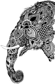 upper arm? - Indian Elephant Head Design The trunk up of course
