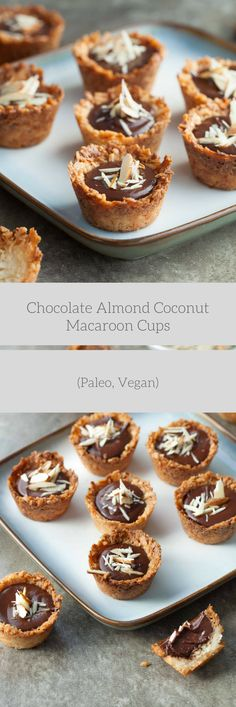 Pretty, yet simple bite-sized coconut macaroon cups with a rich chocolate almond filling. Coconut and chocolate make a splendid pair don't they? The rich but mild flavor of coconut is the perfect m…