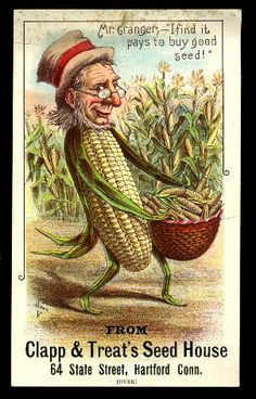 """""""I find it pays to buy good seed.""""  -  Clapp & Treat's Seed House"""