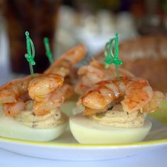 Deviled Eggs With Shrimp @ The Waterboy Restaurant (Sacramento, CA)