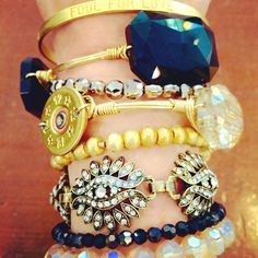 """""""My choice of accessories today was a fun stack mixing designer bracelets from our various collections. #howdoyoustackup XOXO Vonna"""""""