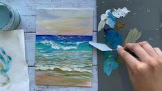 Basic Painting, Acrylic Painting Tips, Canvas Painting Tutorials, Gouache Painting, Painting Techniques, Painting & Drawing, Acrylic Painting For Beginners Step By Step, Painting Steps, Acrylic Paintings