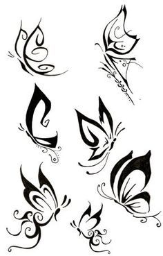 Tribal Butterfly Tattoos | View More Tattoos Pictures Under: Butterfly Tattoos