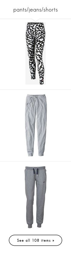 """pants/jeans/shorts"" by emiliesprenger on Polyvore featuring intimates, sleepwear, pajamas, pants, sleep pants, stitch pajamas, pj pants, bottoms, sweatpants and bottoms sweats"
