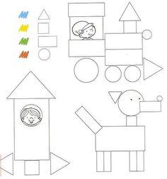 Kenar köşe geometrik şekiller Recreo y pensamiento lógico - - Álbumes web de Picasa Preschool Projects, Preschool Learning Activities, Preschool Curriculum, Preschool Kindergarten, Preschool Worksheets, Kids Learning, Teaching Shapes, Shapes Worksheets, Math For Kids