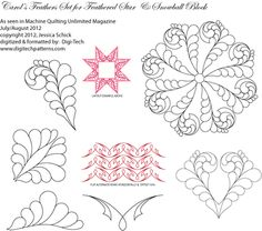 Carol's Feathers Set for Feathered Star Block Set by Jessica Schick - Digi-Tec