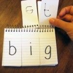 DIY Learning Resources give them paper to write the words they create on.