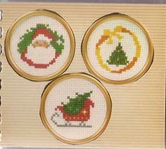 When I made the cross stitch Santa, I also did the Christmas tree and the Sleigh. I gave them as gifts and kept the Santa for myself