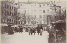 La Place de la Croix-Rousse, vers 1900 fonds Jules Sylvestre (1859-1936)