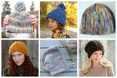 Check out these 13 hat knitting patterns that we've picked out specifically for beginners in mind. Easy Crochet Stitches, Knitting Stitches, Knitting Designs, Knit Crochet, Knitting Patterns, Crochet Hats, Beginner Knitting Projects, Knitting For Beginners, How To Start Knitting