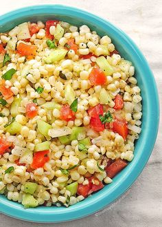 Fresh Corn Salad Recipe | http://shewearsmanyhats.com/fresh-corn-salad-recipe/