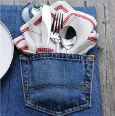 b for bel: Tips & Tricks: Using Jeans Pocket as Utensil Holder. CUTE