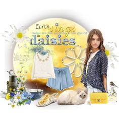 Daisies are like Sunshine to the Ground.   I started with the fresh new look of a kimono top (that my daughter actually purchased from Forever 21) and decided t...
