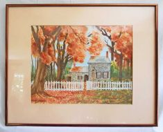 US Artist Paper Paintings Fall Home Decor, Autumn Home, Orange Painting, Washington, Watercolor, Stone, Antiques, Paper, Artist