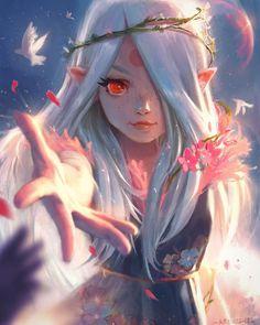Anime Fantasy - anime fantasy + Manga – anime aesthetic / anime drawings / anime boy / an - Dark Fantasy Art, Fantasy Anime, Fantasy Kunst, Fantasy Girl, Fantasy Artwork, Gothic Anime, Fantasy Dress, Gothic Art, Manga Kawaii