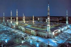 The Mosque of the Prophet (or Prophet's Mosque) (Arabic: المسجد النبوي in Medina, is the second holiest mosque in Islam and the second largest mosque in the world after the Masjid al-Haram in Mecca. It is the final resting . Al Masjid An Nabawi, Masjid Al Haram, Mecca Masjid, Beautiful Mosques, Beautiful Places, Beautiful Pictures, Medina Mosque, Medina Islam, Mekkah
