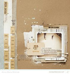 Like the chipboard looking background with white splatter and  spackle